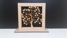 2  x Wooden Mdf FamilyTree Framed 20cm on Stand Tree size 15cm on 4mm