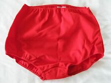 "Ladies GYMPHLEX XL 100% Bri Nylon School Gym Knickers in SCARLET (W30-38"") BNIB"