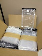 CASE of 250 Zippered PEVA Clear Plastic Retail Packaging Bags 6x9x1 Cube Block