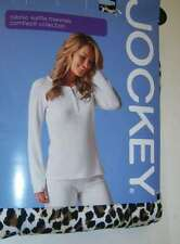 JOCKEY Long Sleeve HENLEY Waffle Thermal TOP SHIRT Women M NWT