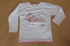 """E16) Süßes weißes Langarmshirt Shirt mit Stickerei """"CANDY"""" Mädchen Gr. 86"""