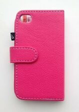 Orbyx iPhone 4 / 4S  Pink PU Leather Folio Wallet Case Cover & Screen Protector