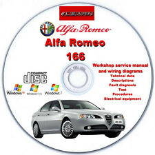 Alfa Romeo 166 (1999 - 2003) eLearn – Multilingual Factory Repair Manual CD