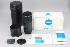 【MINT in BOX】MINOLTA NEW MD 100mm F4 MACRO Lens + Extension T SLR From Japan 386
