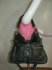 Chocolat Blu Shoulder Bag Black Leather Shoulder Bag Tote Purse Handbag