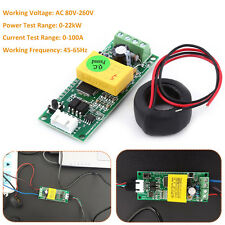 AC80-260V 100A/22KW Electric Monitoring Module Power Voltage Current Meter CT AM