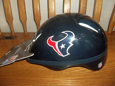 HOUSTON TEXASANS CHILDS BICYCLE HELMET (NEW) SIZE LARGE 8+ YOUTH