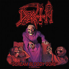 Death - Scream Bloody Gore Aufnäher Patch Chuck Schuldiner Heavy Metal Kutte NEU