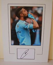 MANCHESTER CITY HAND SIGNED GAEL CLICHY 16X12 MOUNTED PHOTO.