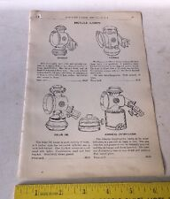 1902 Bicycle Catalog Page Illustration w Prices Lamps Admiral Everlit Solar