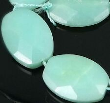 18x13mm Amazonite Faceted Oval Beads (10)