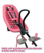 YEPP MINI PINK FRONT MOUNT BIKE CHILD SEAT FOR AHEAD STEM CYCLES 45% OFF + STAND