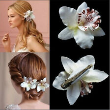 Wedding Bridal Flower Orchid Leopard Hairpin Barrette Hair Clip Accessories