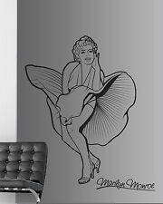 MARILYN MONROE Wall Sticker/Decalcomania Trasferimento Decor/Vinile Grafica Stencil