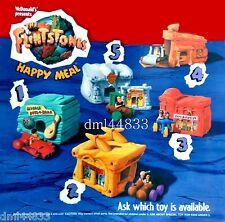1994 McDonalds Flintstones MIP Complete Set & U3 - Lot of 6