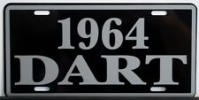 1964 DODGE DART METAL LICENSE PLATE 170 270 GT CONVERTIBLE WAGON SLANT SIX 273