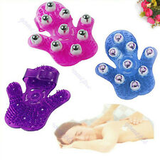 1pc Body Care Hand-hold Roller Rolling Joint Massager Glove Color Random