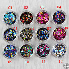 12 Colors Nail Glitter Powder Shinning Nail Mirror Gradien Makeup Art DIY Chrome