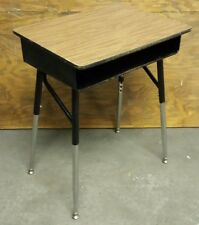 *DIY*  School Student Desk Adjustable Metal Legs Wood Top Open Face Cubby **READ