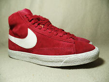NIKE BLAZER MID SUEDE PREMIUM LEGACY RED Unisex Trainers UK Size 6/ EU 40