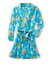 NEW DISNEY TINKERBELL TINK Fleece Bath Robe Pajama Girl size S 6/6X