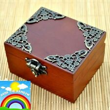 UNIQUE Vintage Square Wind Up Music Box : SOMEWHERE OVER THE RAINBOW