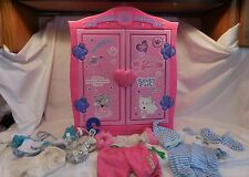 Build A Bear Beararmoire Fashion Case Closet Wardrobe Armoire + Outfits +Sandals