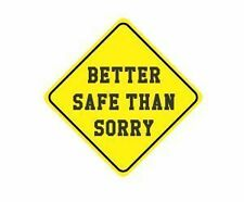 Better safe than hard hat / helmet vinyl decal sticker funny joke safety work