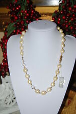 SUPERB RUNWAY VINTAGE GIVENCHY FAUX BAROQUE PEARLS & SWAROVSKI CRYSTAL NECKLACE