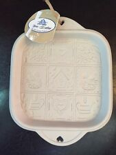 Spring HERMITAGE POTTERY 1999 NWT shortbread cookie mold hearts Flowers Birds