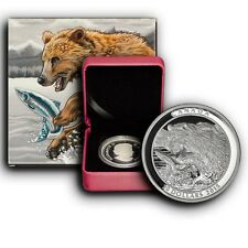 2015 The Catch Grizzly Bear Canada 1 oz Proof Proof Silver Coin W/ BOX & COA