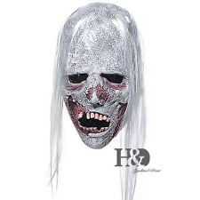 Horror White Hair Adult Ghost Latex Halloween Mask Fancy Party Costume Dress New