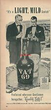 Publicité 1939 Scotch Whisky VAT 69 alcool advertising réclame