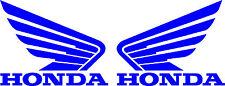 HONDA WING GOLDWING DIE CUT DECAL - SET OF 2 - BLUE