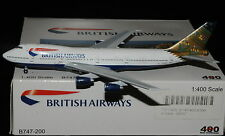 "AEROCLASSICS / CRAFTSMAN 400 1/400 B747-200 BRITISH AIRWAYS "" INDIA """