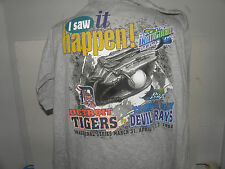 MLB 1998 INAUGURAL SEASON TAMPA BAY DEVIL RAYS- TIGERS  I WAS THERE TEE SIZE XL