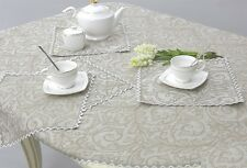 13 pcs LINEN Table Set FLAX: Tablecloth 147x250 cm and 12 Napkins EMBROIDERED