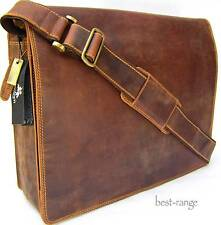 XL Messenger Briefcase Shoulder Bag Real Leather Tan Visconti New 16054