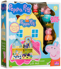 PEPPA PIG - PEPPA PIG'S PLAYHOUSE WITH FIGURES - DADDY/MUMMY & PLAY MAT - BOXED!