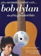 Play Acoustic Guitar with ... Bob Dylan Sheet Music Book and CD NEW 014025644