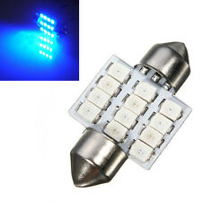 Car Blue Dome 3528 SMD 12LED Interior Festoon Reading Light Bulb Lamp 31mm 12V