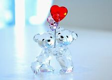 Swarovski Kris Bear Herart Balloons Pink Couple Love 5185778 Brand New in Box