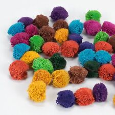 Hmong Hill Tribe Handmade Cotton Yarn Haystack Pom Poms Multi Color Craft x 100