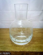 Lovely Vintage Glass Vase with Markings of Vine with Leaves - Flower Bowl