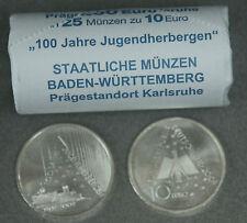 25 SILBERMÜNZEN,  10 EURO, 100 JAHRE JUGENDHERBERGE 2009, 925er SILBER, ROLLE