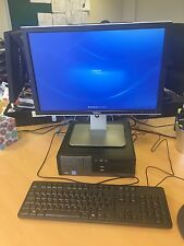 "Dell Computer I5 Processor Workstation Desktop With 21"" Monitor Keyboard Mouse"