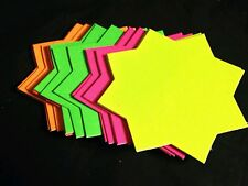 80 x neon Fluorescent Stars Flash Price Display Tags Flourescent Labels Shop10cm