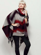 NEW FREE PEOPLE MAPLE COMBO  DESERT  DREAM COWL PONCHO O/S