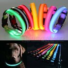 LED Glow Nylon Dog Pet Cat Puppy Night Safety Flashing Light Up Collar Christmas
