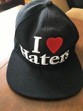 """Mens Baseball Statement """"I LOVE HATERS """" Snapback Flat Bill Black Hat"""